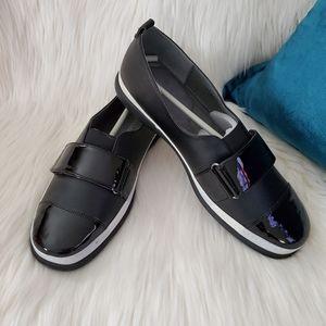 Adrienne Vittadini Faryl Black Slip-on Sneaker